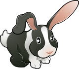 Cute lovable rabbit vector illustration  poster
