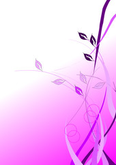 illustration vectorielle florale rose et mauve