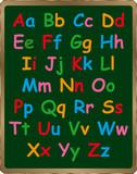 Alphabet on Blackboard poster