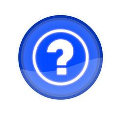 web button with FAQ symbol