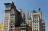 Old buildings in New York City with Art Deco facade poster