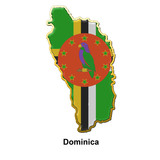 Dominica metal pin badge
