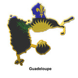Guadeloupe metal pin badge
