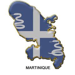 Martinique metal pin badge