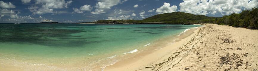 Panorama d'une plage du sud de la martinique
