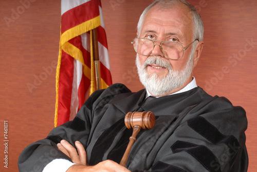 Leinwanddruck Bild American judge