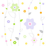 Fototapety Seamless vector pattern with flowers