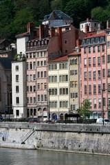 Saone river's quay, Lyon, France