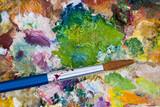 paintbrush & palette poster
