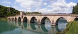 stone bridge on river Drina, Bosnia poster