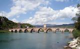old ottoman stone bridge over river Drina poster