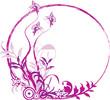 round floral frame