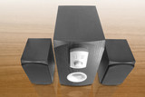 computer speakers with built in amplifier poster