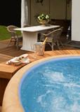 luxury spa bath
