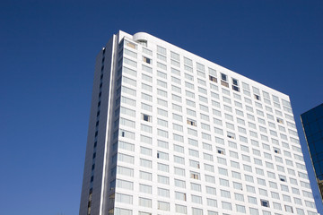 White Hotel Against Blue Sky