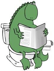 Dinosaur On A Toilet