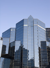 Blue Glass Reflective Financial Center