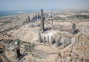 Landscape Of Construction In Dubai