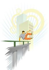 Vector illustration of urban parkour
