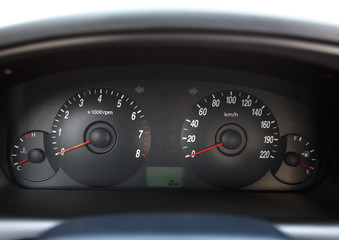 dashboard of car