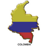 Colombia metal pin badge poster