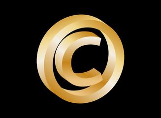Copyright symbol (gold)