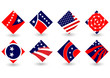 Abstract election icons or Fourth of July theme