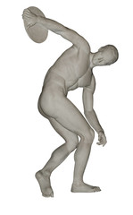 Discobolus sport icon with path