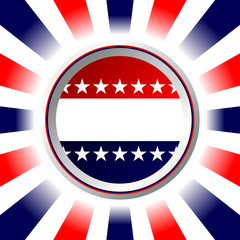 Election poster. Fourth of July background.