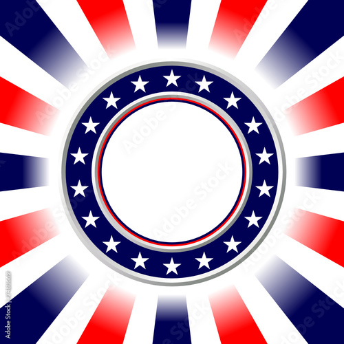 United States colors. Election poster.Fourth of July background