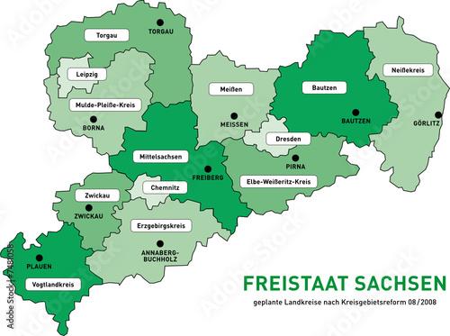 Landkreise Sachsen