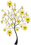 albero sole poster