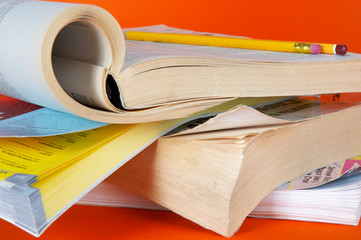 magazines the opened pages