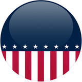 Political Button with Copy Space