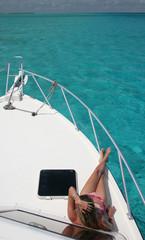 Yacht Sunbathing