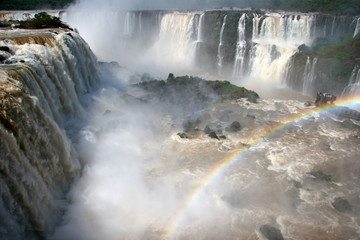 Observing point by Iguazu Falls