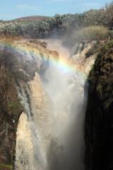 Epupa Waterfall with Rainbow