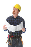 construction worker wonderfully looking up poster