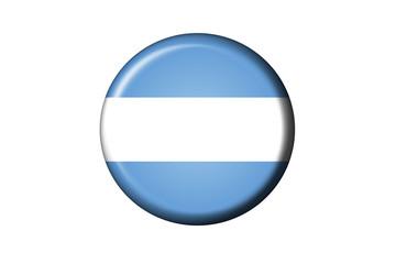 Argentinien Flaggen Knopf
