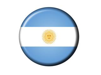 Argentinien Inti Flaggen Knopf