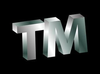 Trademark symbol in silver