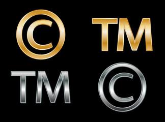 Copyright and Trademark symbols (2D)