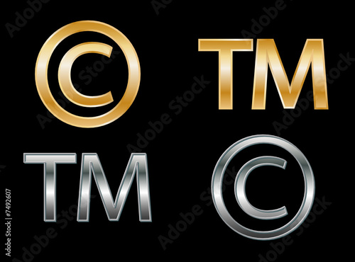 Copyright and Trademark symbols (2D)