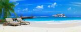 Fototapety caraibean beach ponton 05