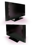 LCD or Plasma TV Cutout against white with clipping path poster