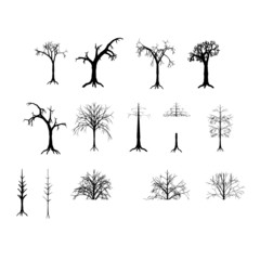 collection of dead trees ( vector )