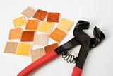 pince atelier mosaïque carrelage créatif loisir carreau outil poster