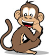cartoon monkey smiling