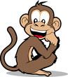 cartoon monkey smiling
