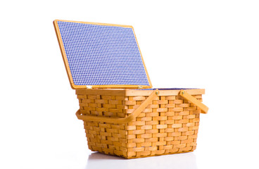 Picnic Basket on White